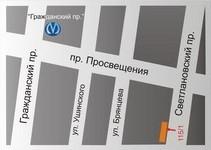 Схема проезда к офису компании ИСК «Отделстрой»